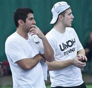 Juan Cardenas (left) and Jeff Brown are ranked as the No. 2 doubles team in the East Region by the ITA