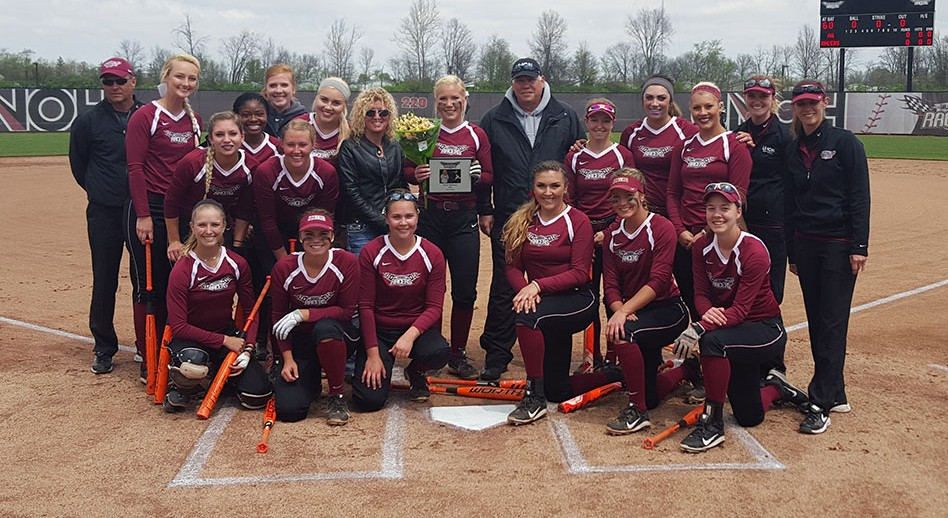 Photo for Softball Sweeps Aquinas on Senior Day