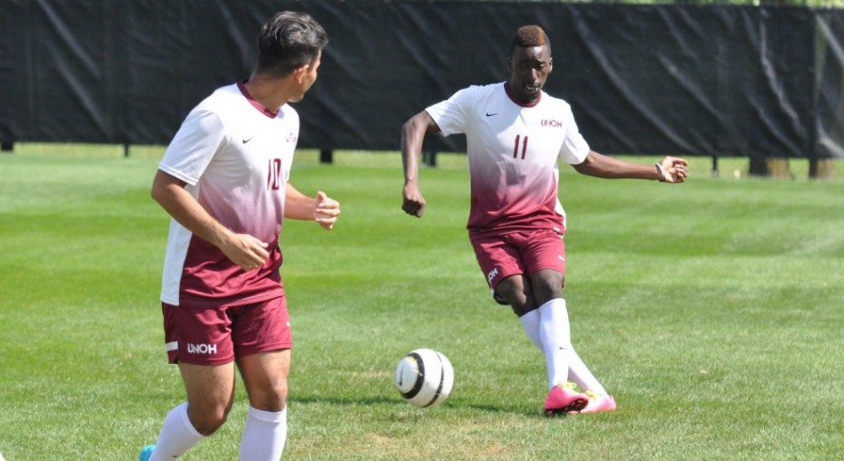 Photo for Men's Soccer Rallies towards Victory