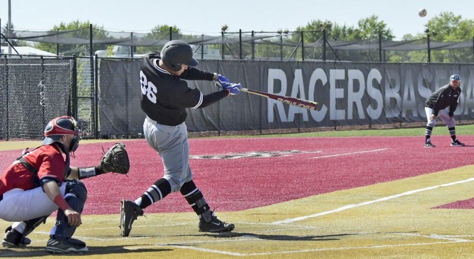 Junior Gomez opened the flood gates for UNOH with a three-run homer in the top of the first. (Photo by Mike Campbell)