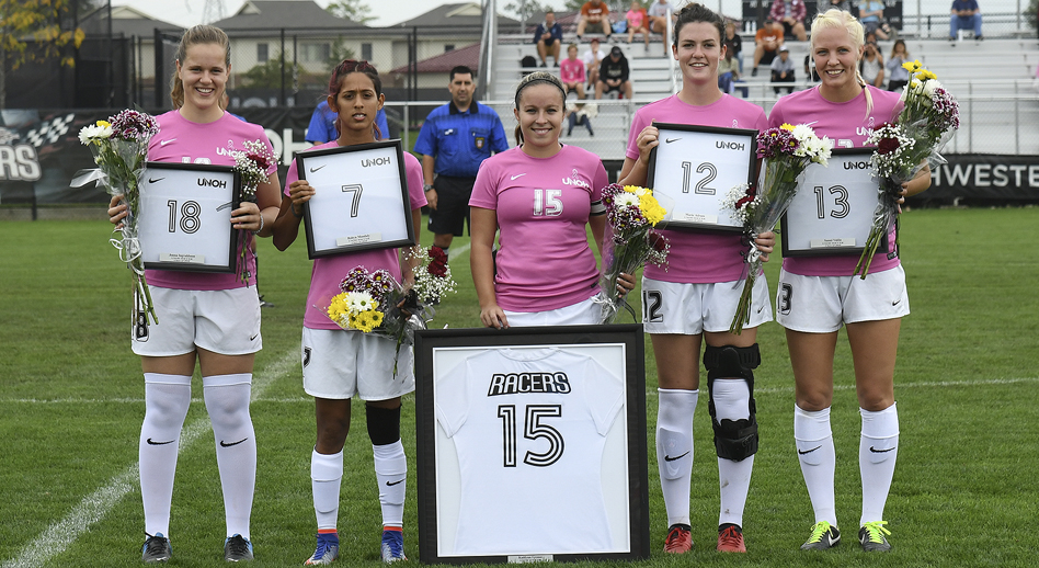 Photo for Women's Soccer Defeats Lourdes on Senior Day